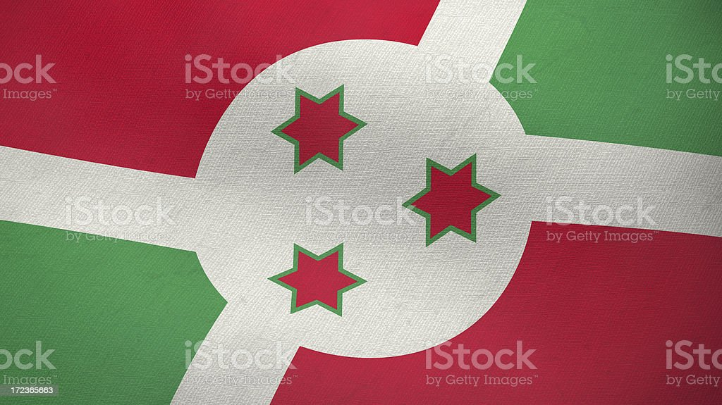 3D ragged flag of Burundi royalty-free stock photo