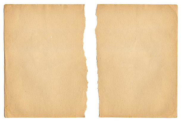 Ragged Old Paper stock photo