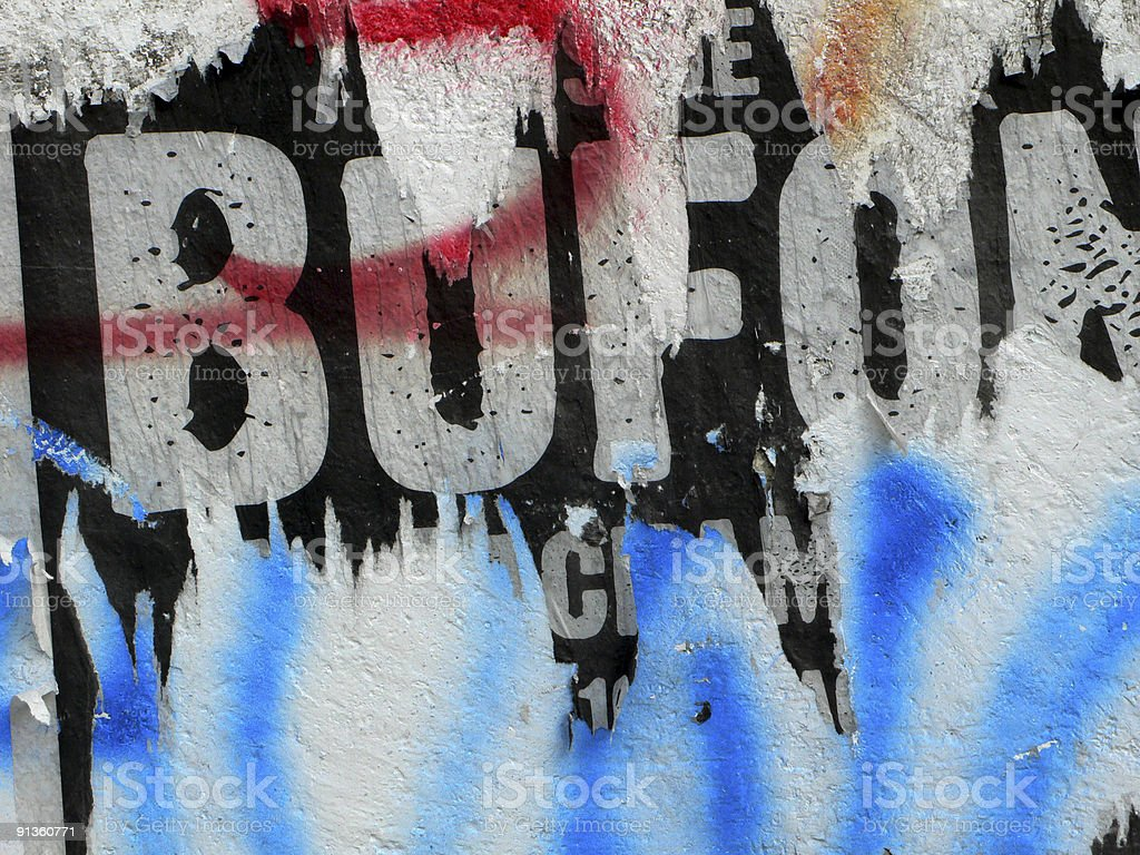 Ragged Poster. royalty-free stock photo