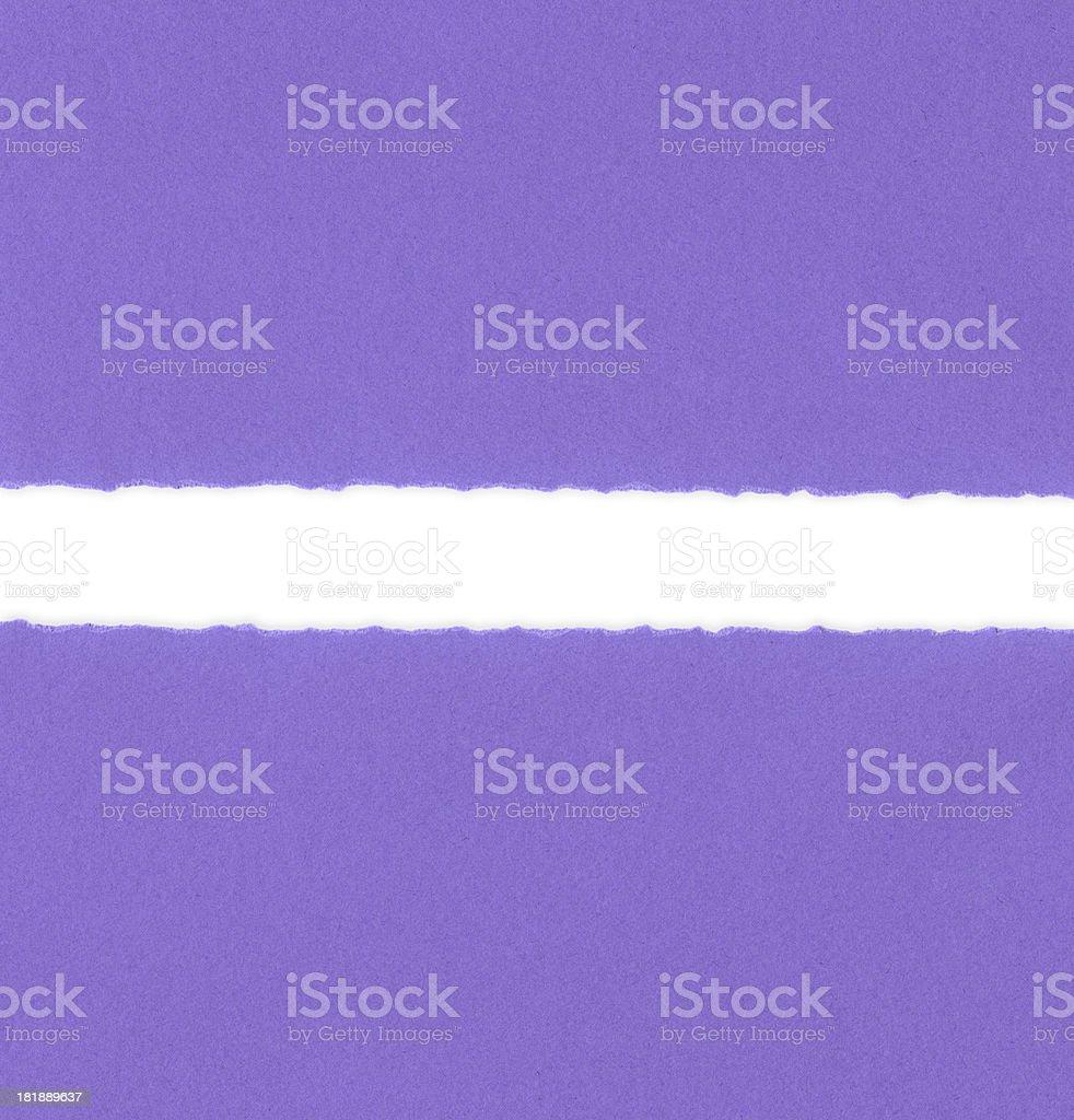 Ragged Purple Paper royalty-free stock photo