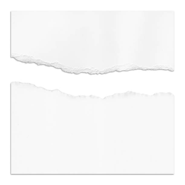 Ragged White Paper Ragged White Paper cut or torn paper stock pictures, royalty-free photos & images