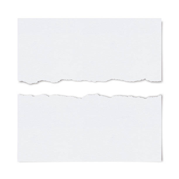 ragged white paper - torn stock photos and pictures