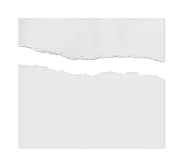 ragged white paper - paper stock pictures, royalty-free photos & images