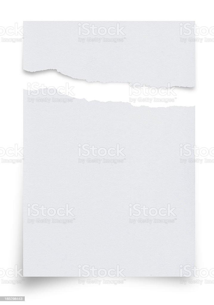 Ragged White Paper stock photo