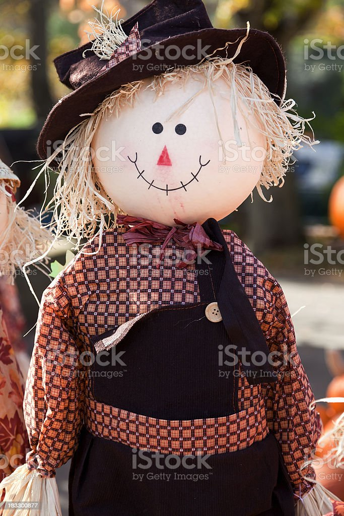 Raggedy Scarecrow stock photo
