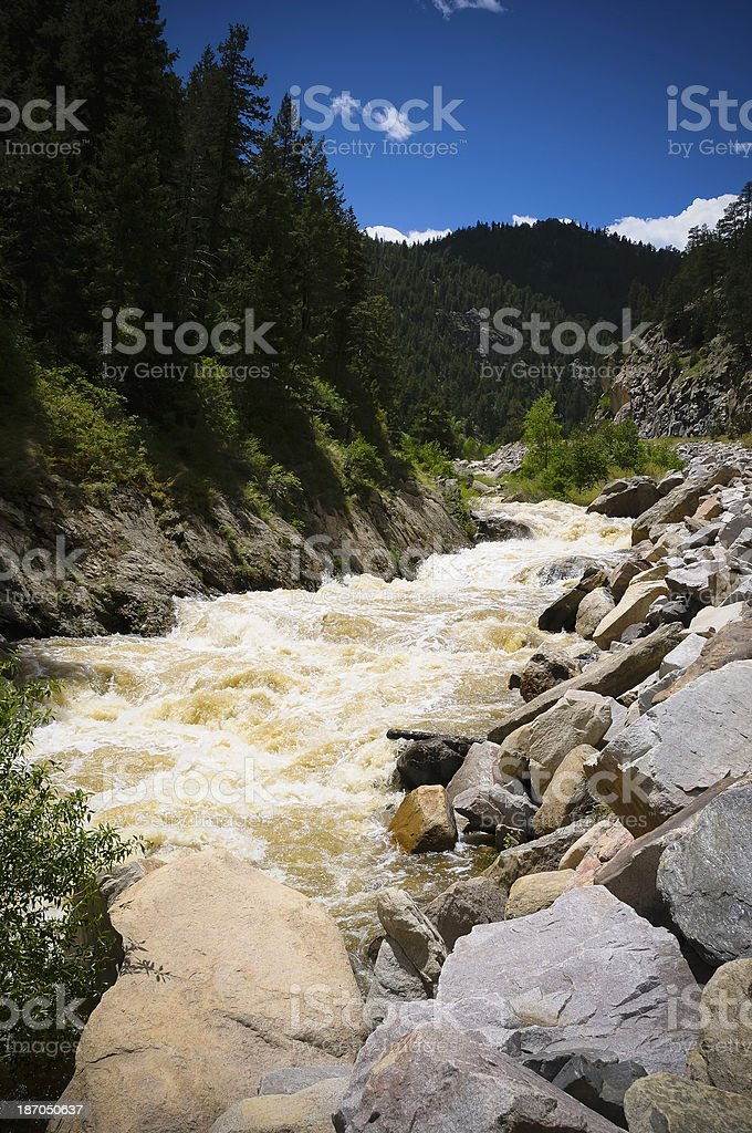 Raging Big Thompson River stock photo
