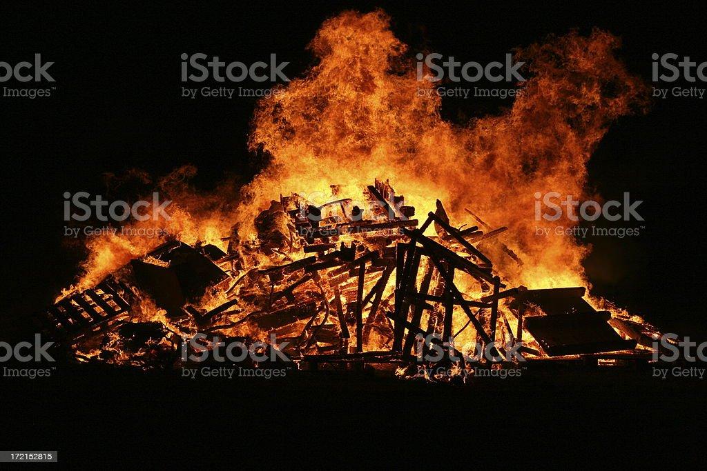 Raging Bonfire royalty-free stock photo