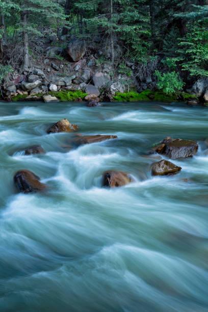 Raging Colorado River & Rocks stock photo