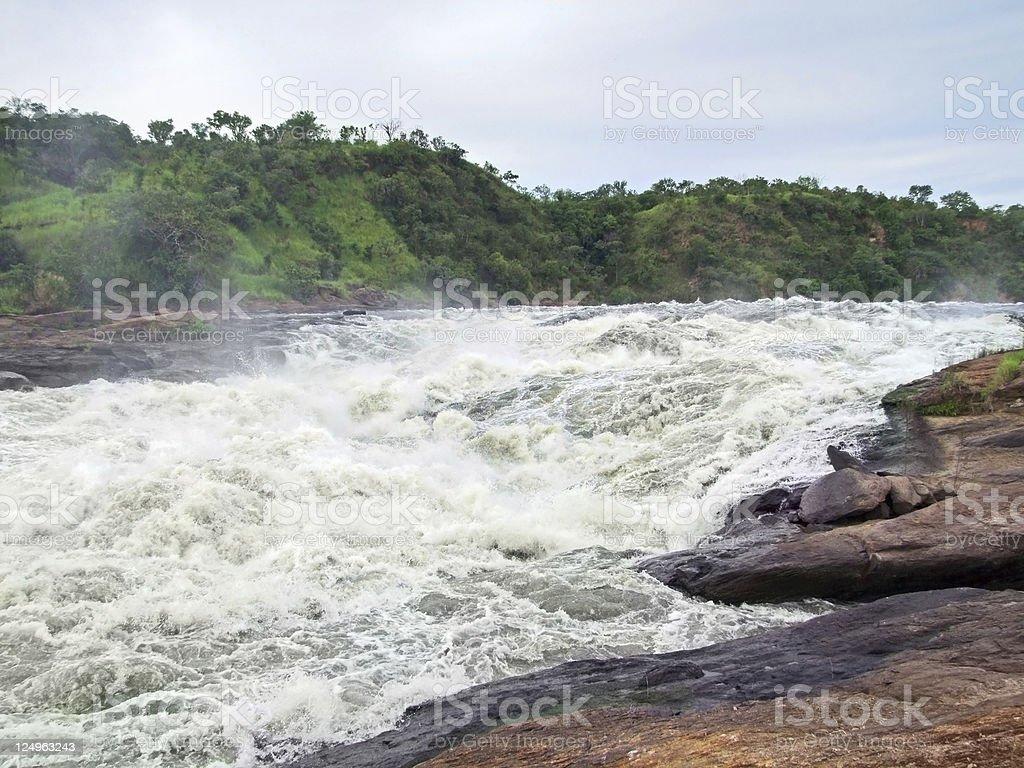 raging torrent at Murchison Falls royalty-free stock photo
