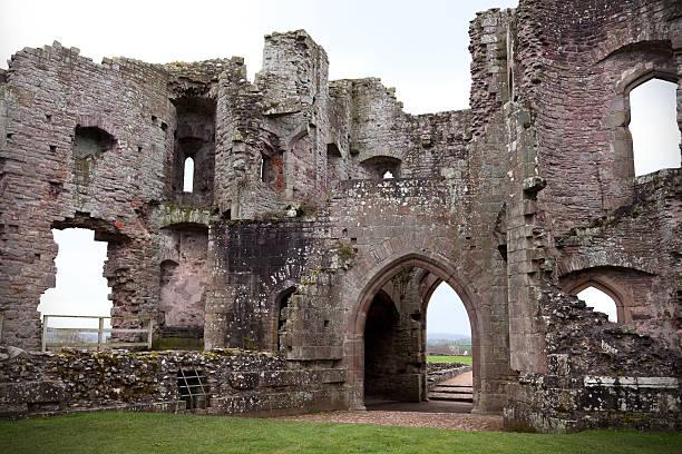 Raglan Castle, Wales stock photo