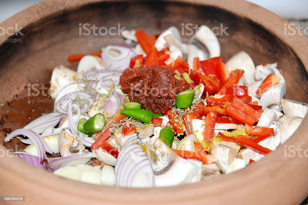 Ragout of vegetables baked in the oven royaltyfri bildbanksbilder