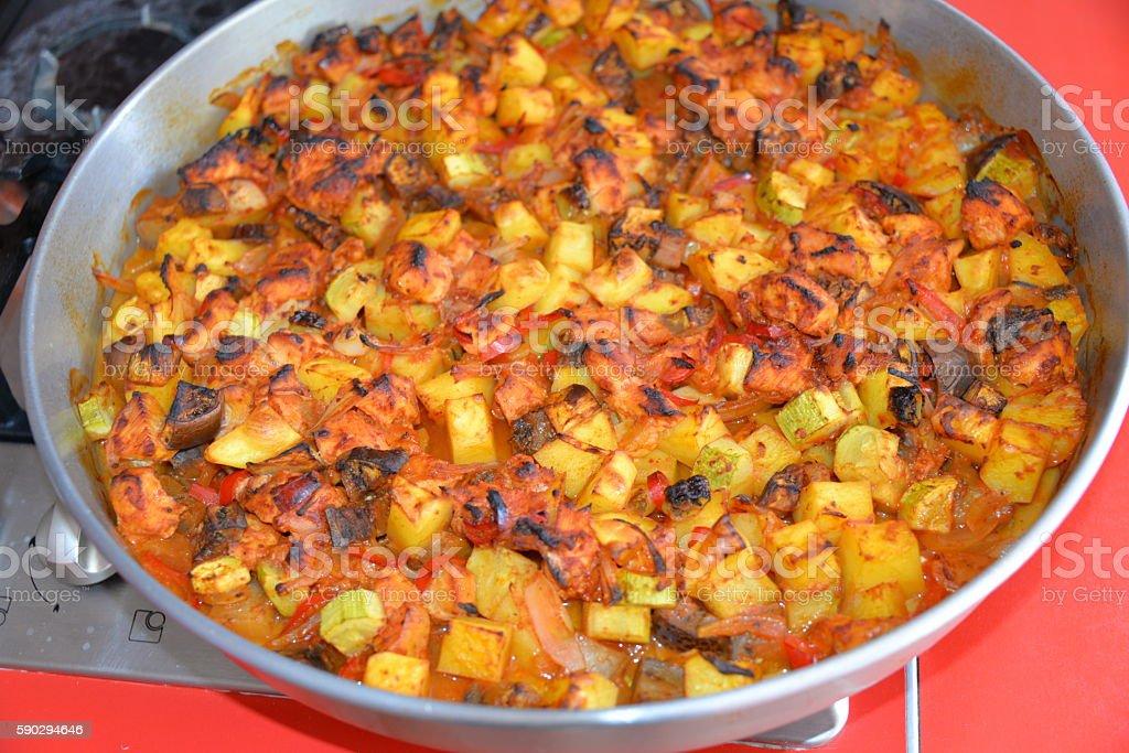 Ragout of vegetables baked in the oven royaltyfri bildbanksbilder