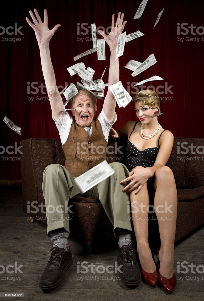 Rags to Riches stock photo