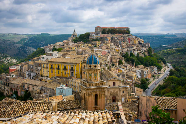 Ragusa Ibla Ragusa Ibla on Sicily, Italy sicily stock pictures, royalty-free photos & images