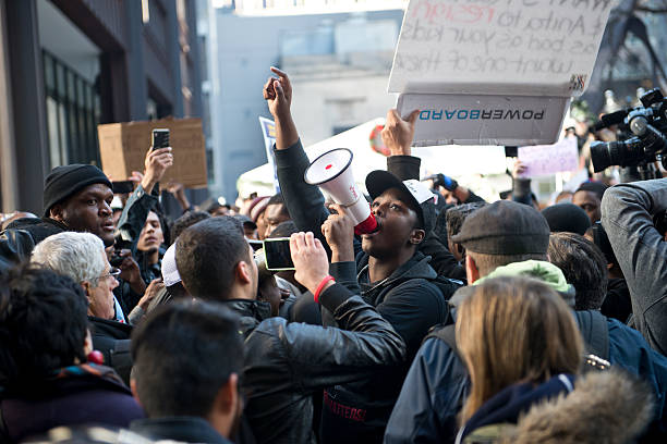 rahm resign protest - protestor stock pictures, royalty-free photos & images