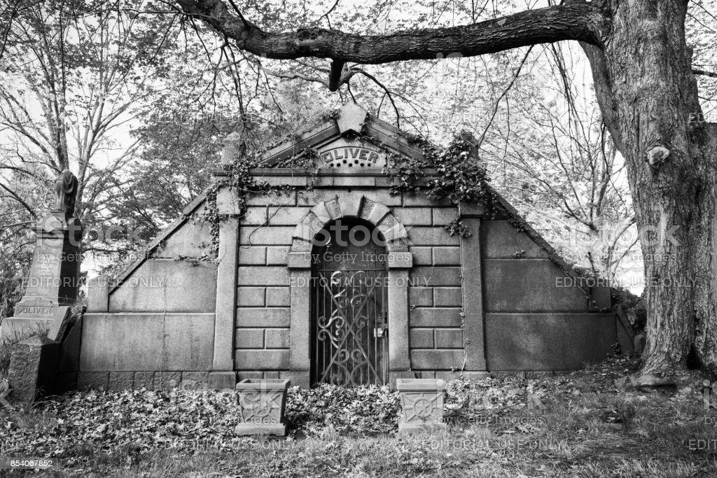 Rahway Cemetery Mausoleum stock photo