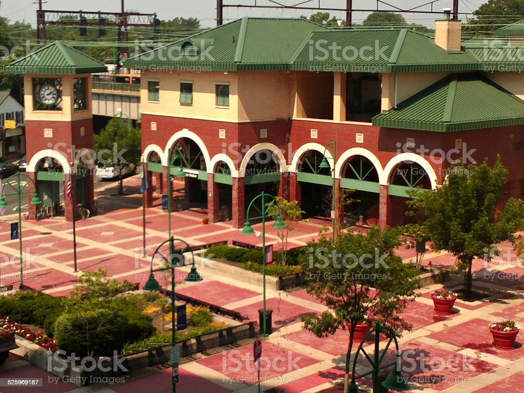 Rahway Subway Transit Station, New Jersey - Royalty-free Arch - Architectural Feature Stock Photo
