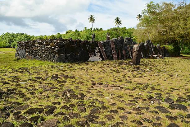 Raiatea, Society Islands Taputapuātea Marae stock photo