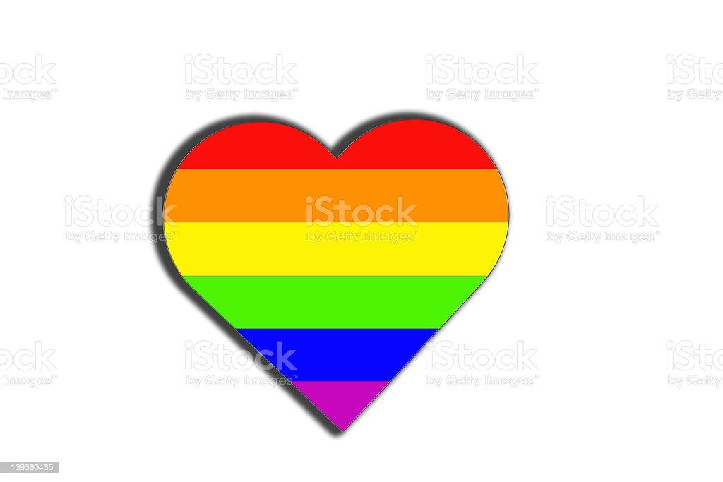 Raibow Heart stock photo