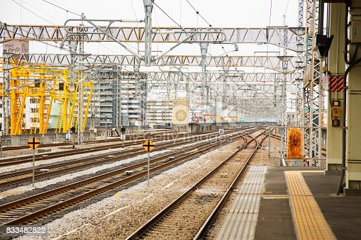 Rail and electrical system in Japan used for Shikansen high speed bullet trains