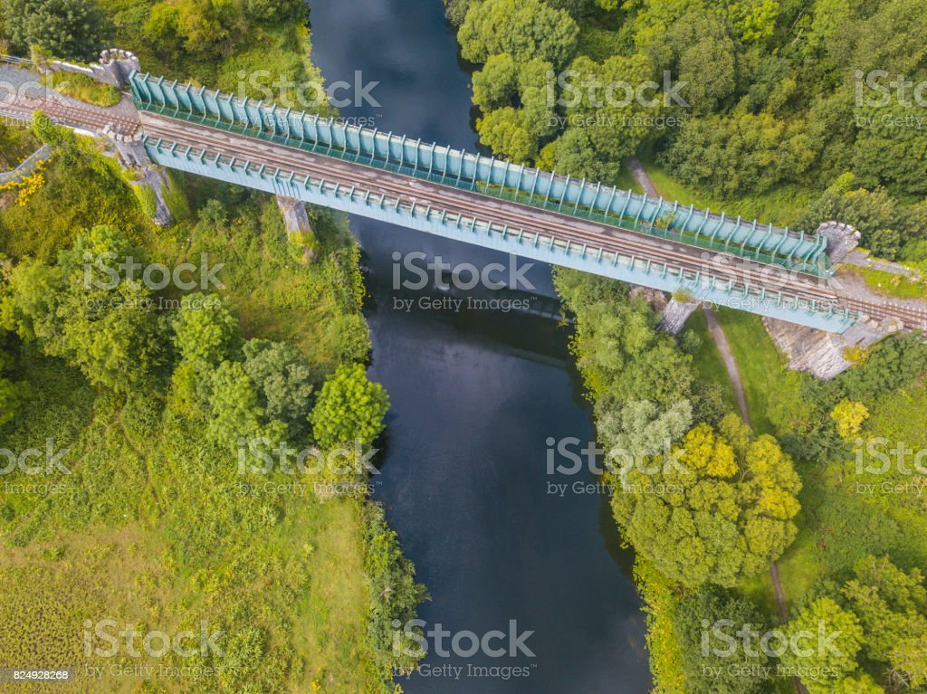 Rail bridge over river Suir, Cahir, Tipperary, Ireland. royalty-free stock photo