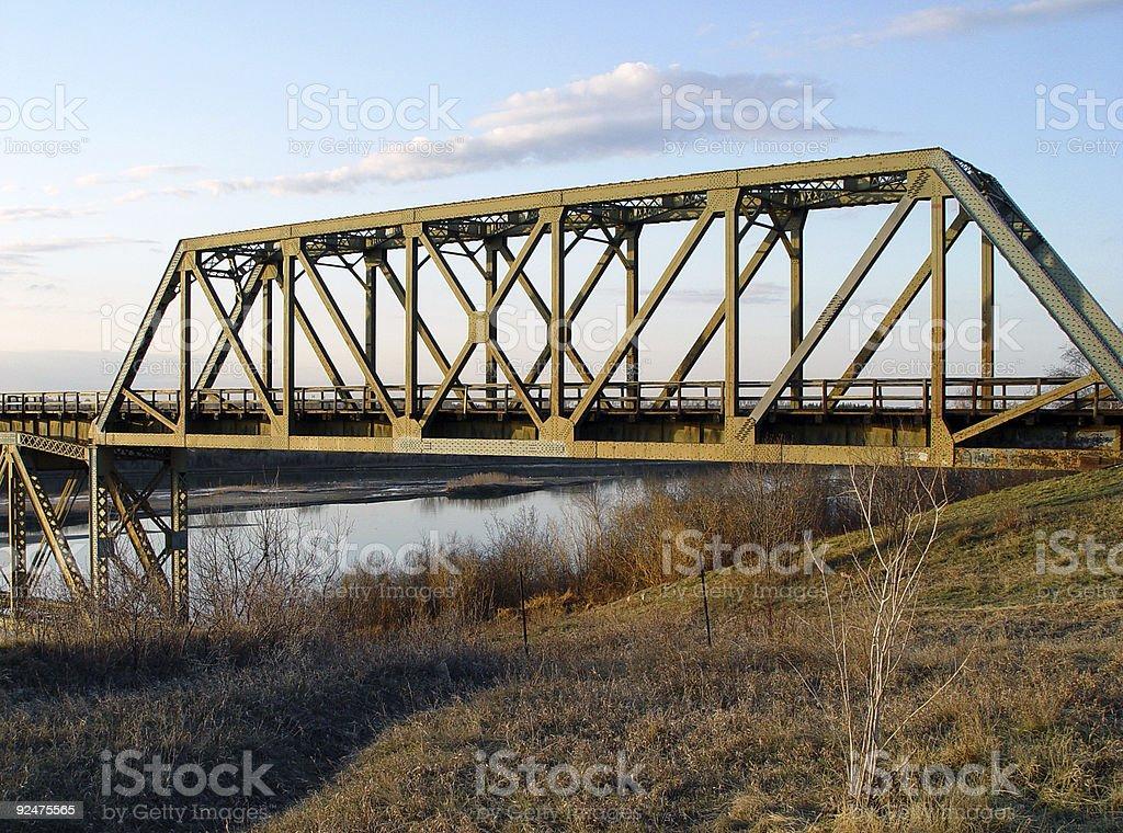 Rail bridge royalty-free stock photo