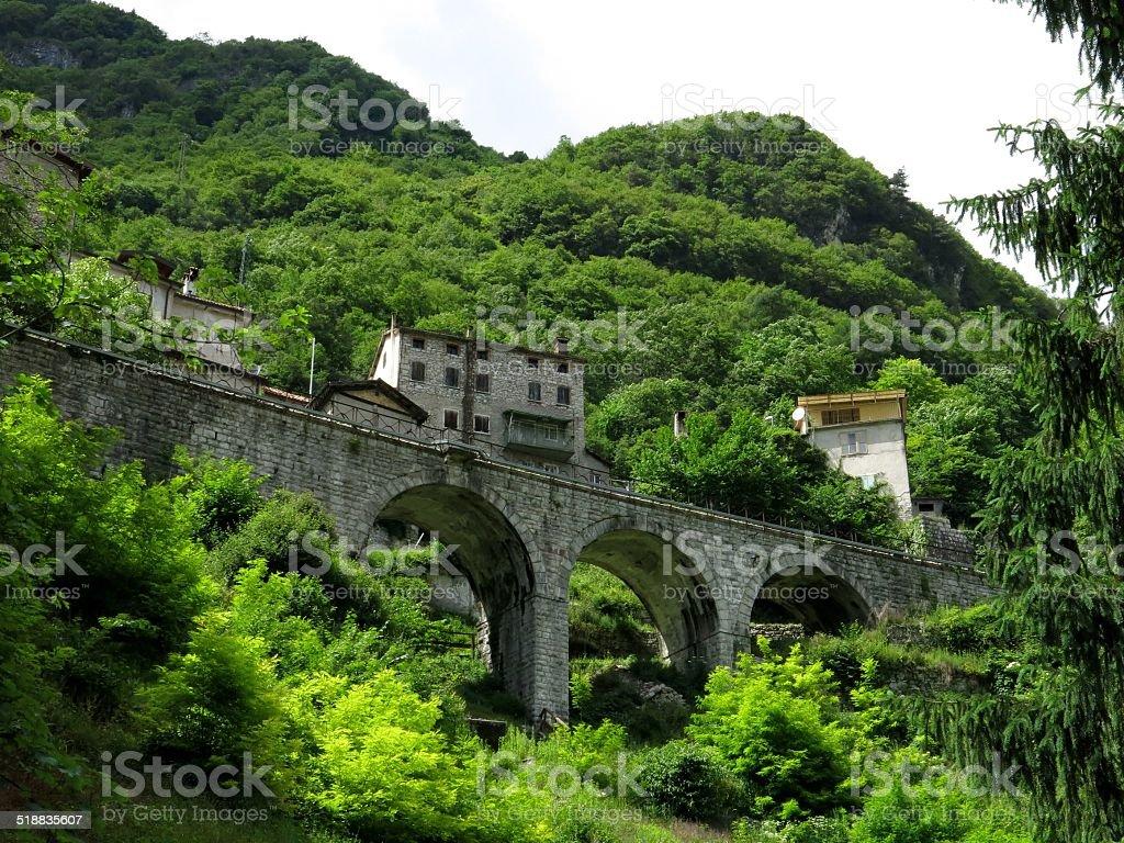 Ponte ferroviario di ferrovie - foto stock