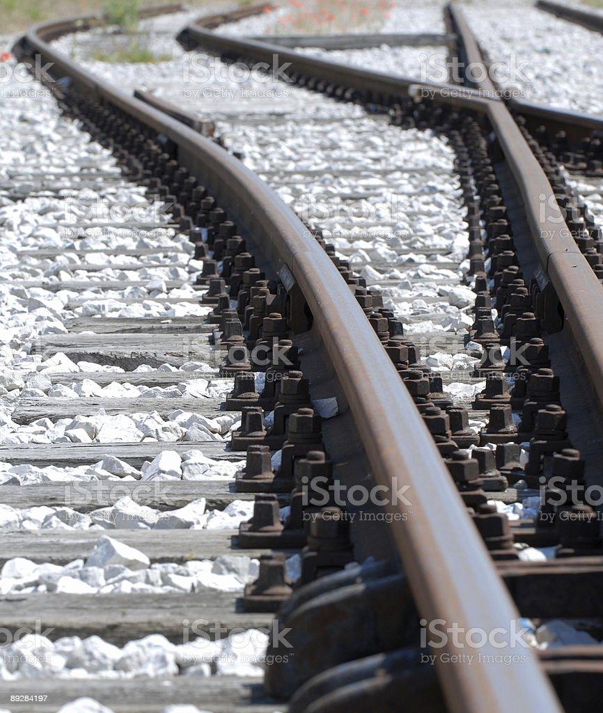 Rail Curves royalty-free stock photo
