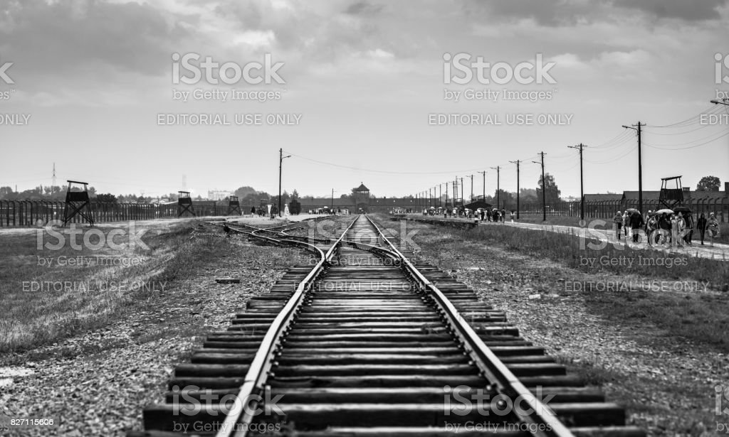 Rail Entrance To Concentration Camp At Auschwitz Birkenau Kz