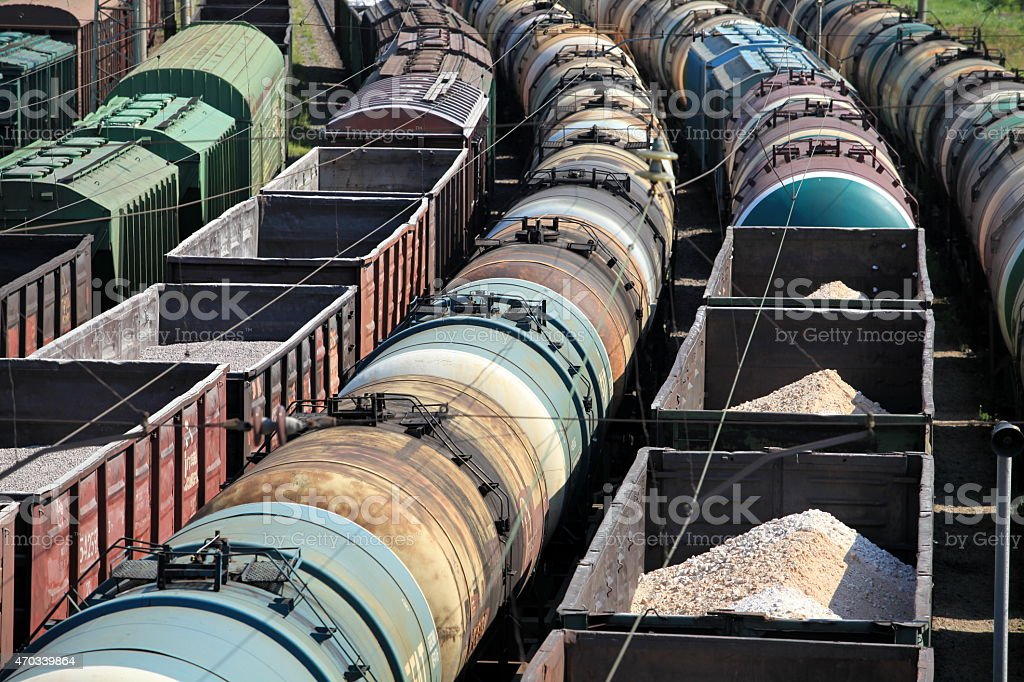 rail freight stock photo