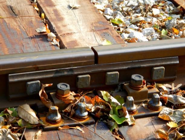 Schiene Schiene Bond, Detail, Joint, alte – Foto