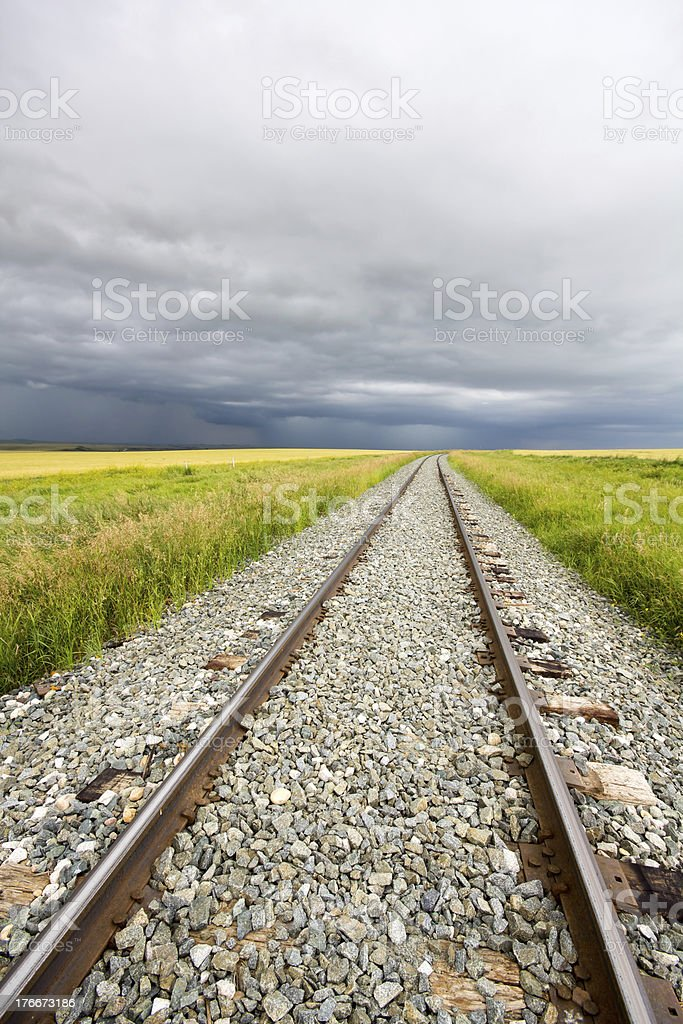 Rail Line Storm royalty-free stock photo