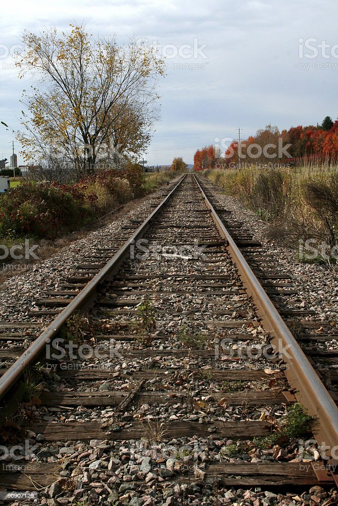 Rail of train (Chemin de fer) royalty-free stock photo
