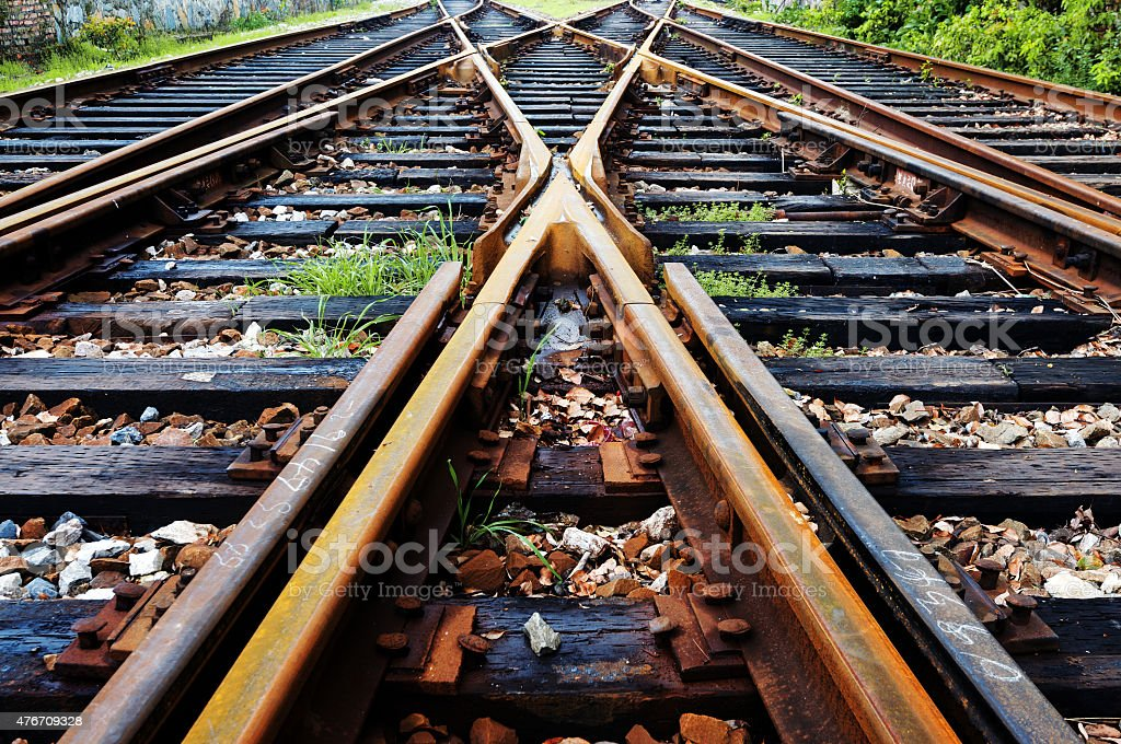 Rail stock photo