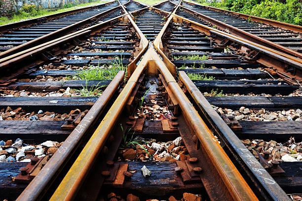 rail - transport ferroviaire photos et images de collection