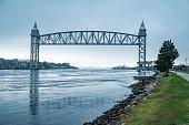 istock Rail road Bridges on Cape Cod canal 1130933513