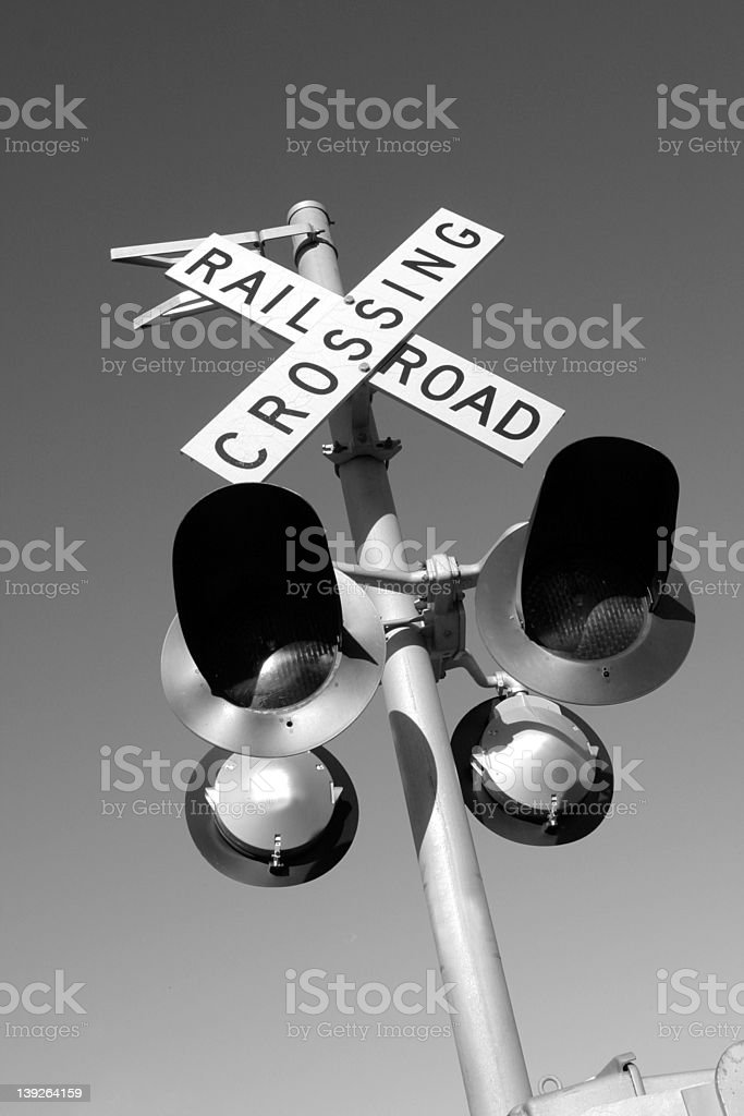 Rail Road Crossing royalty-free stock photo