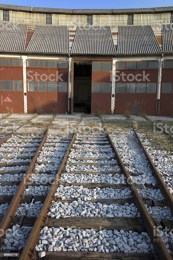 Rail road to maintenance royalty-free stock photo