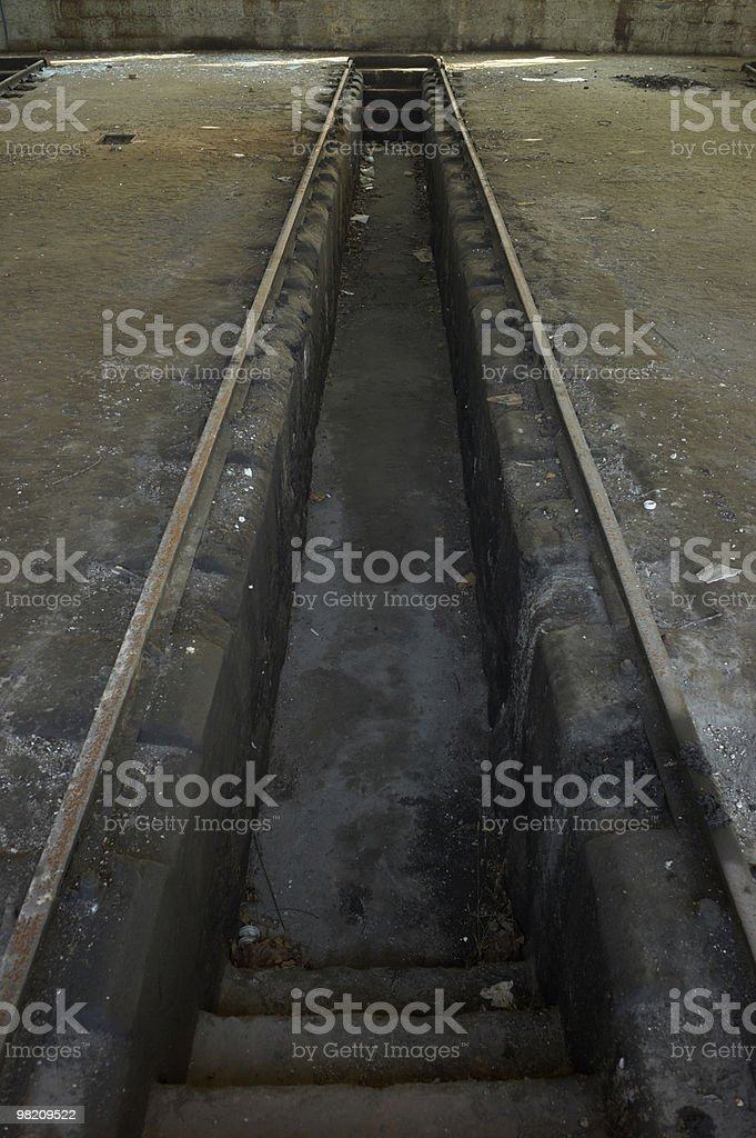 Rail road to maintenance royalty-free stock photo