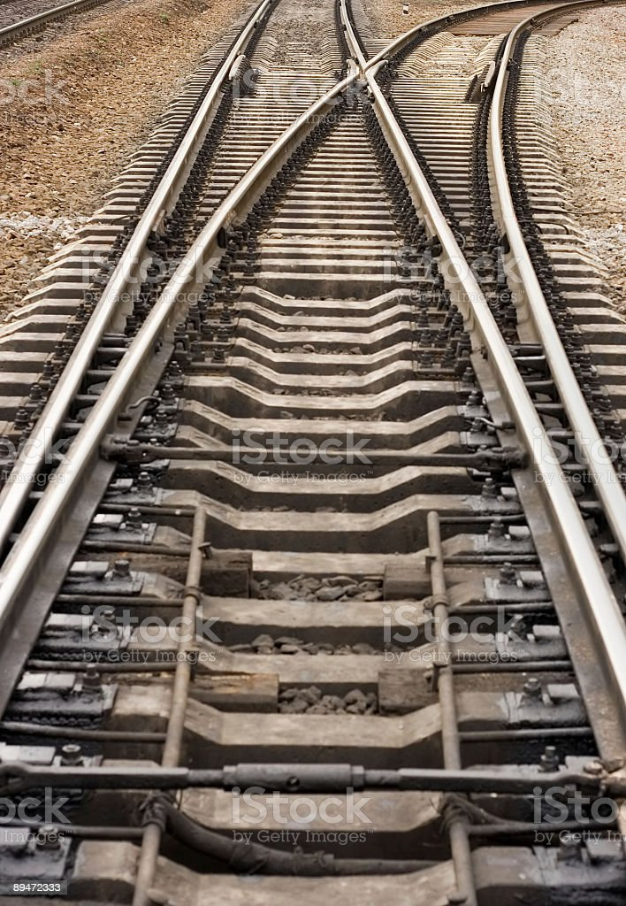 rail road track crotch royalty-free stock photo