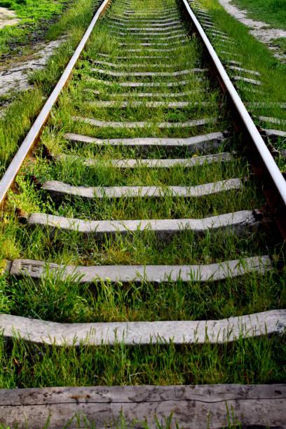 Rail road track stock photo