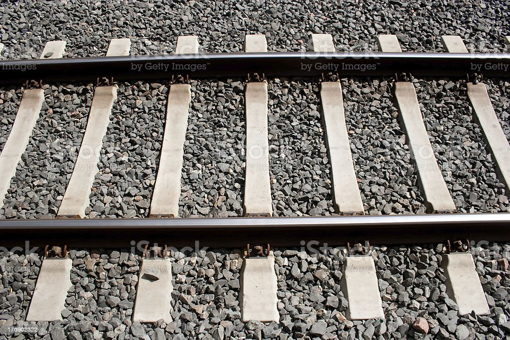 Rail road tracks royalty-free stock photo