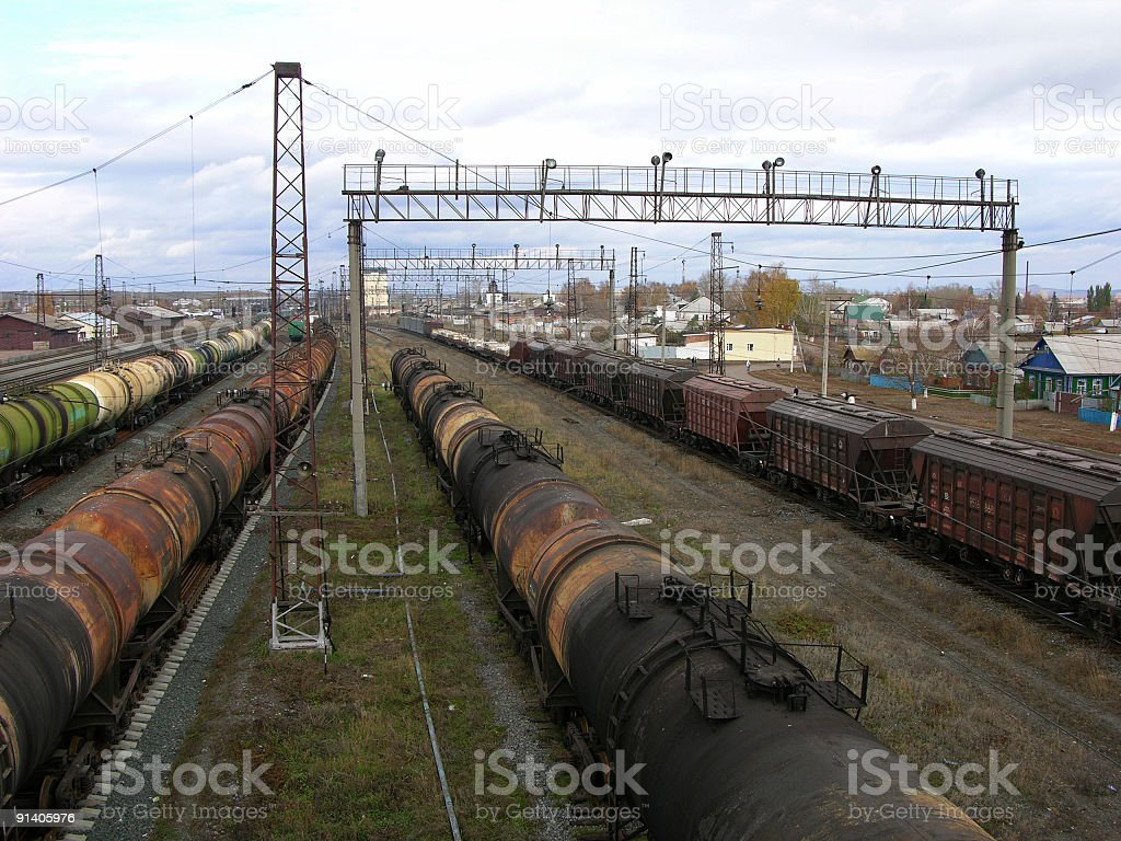 Rail shipments royalty-free stock photo