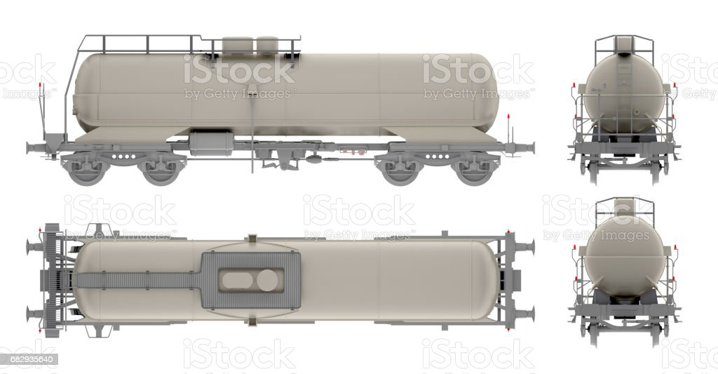 rail tank oil isolated on white 3d rendering stock photo