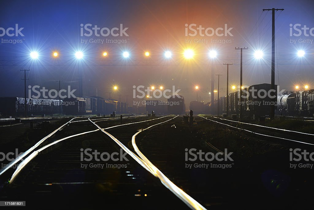 Rail terminal stock photo