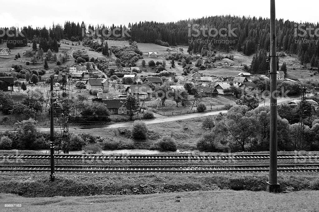 Rail Town royalty-free stock photo