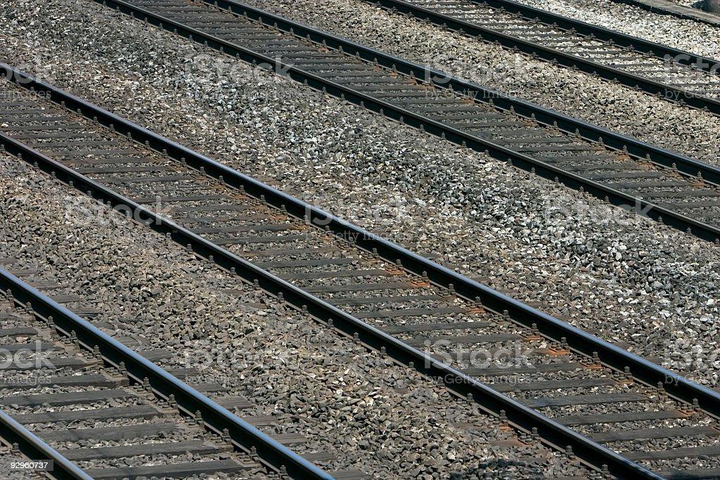 Rail track royalty-free stock photo