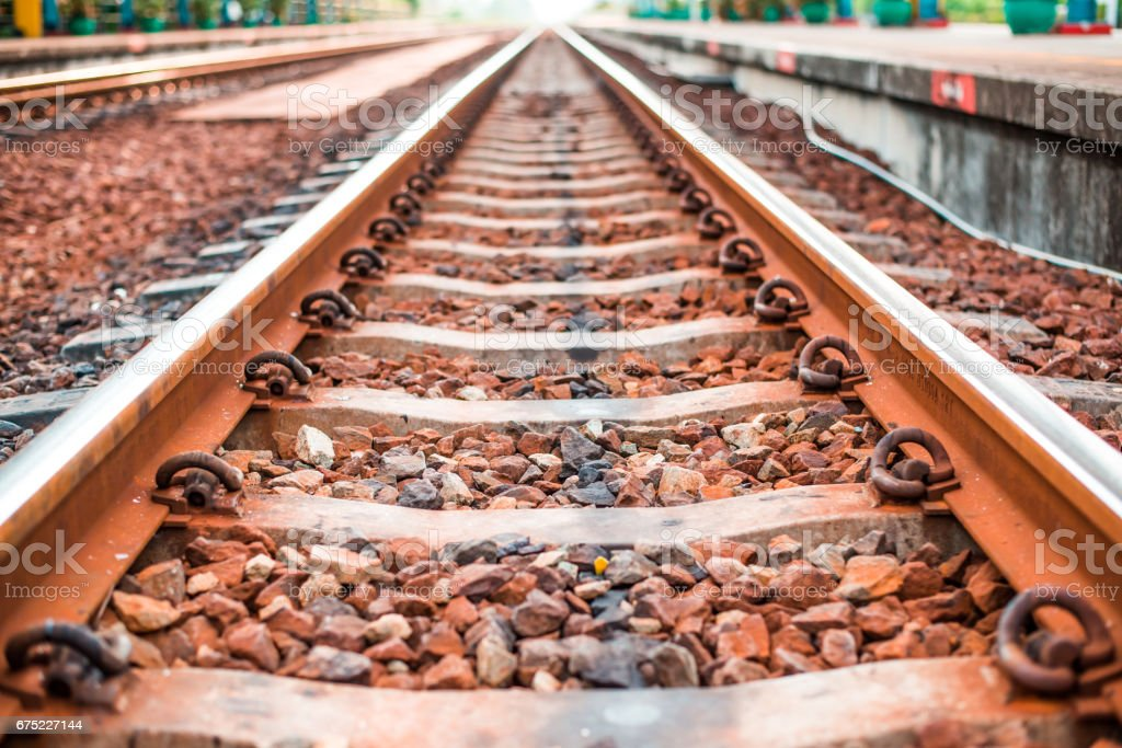 Rail track way transport in thailand royalty-free stock photo