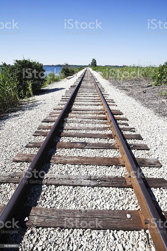 Rail Tracks in Hegewisch, Chicago royalty-free stock photo