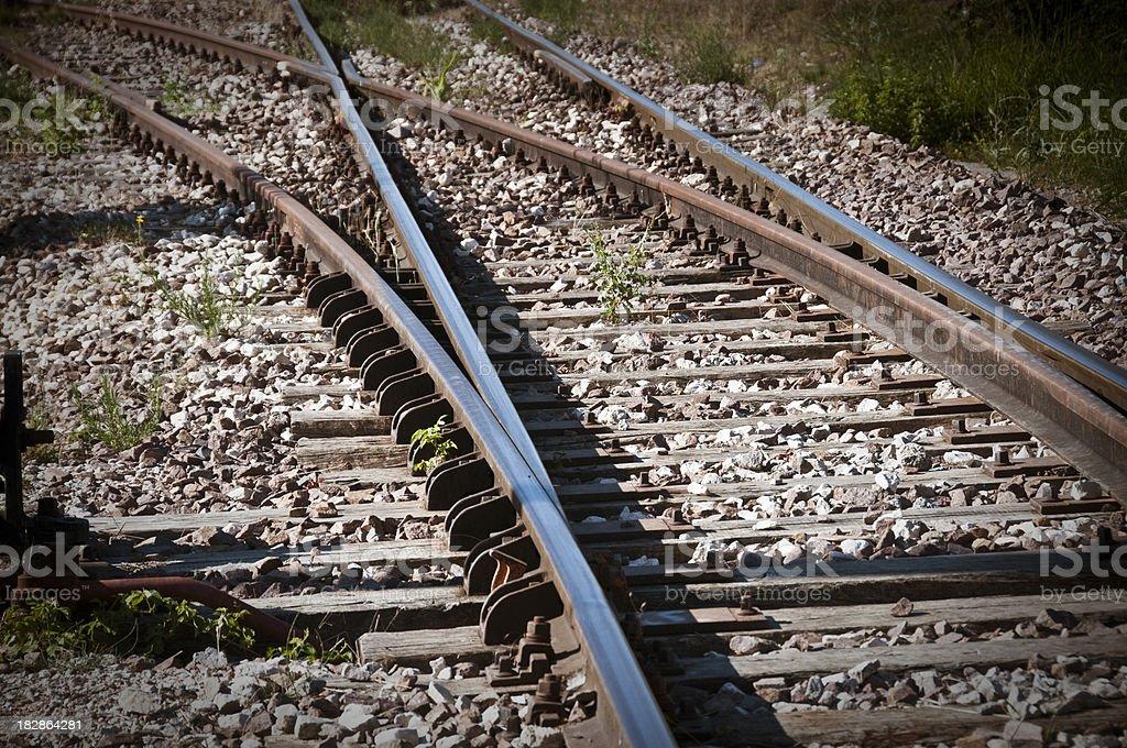 Rail Tracks royalty-free stock photo